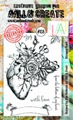AALL & Create stempel nr 138 - Blooming Heart
