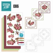 Stitch and Do 86 Birds and Roses per stuk