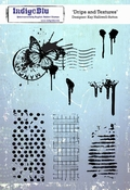 IndigoBlu stempel Drips and Textures - A5 Cling Stamp