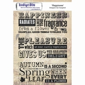 IndigoBlu stempel Hapiness- A5 Cling Stamp