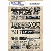 IndigoBlu stempel Traveling Home - A5 Cling Stamp