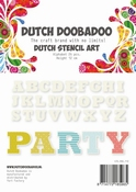 Dutch Doobadoo Stencil Art Alfabet 4