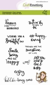 Stempel A6 - Kaat en Odey  Spring quotes