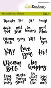 CraftEmotions stempel A6 | My Bullet Journal | Quotes