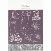 Deco folie en transfer vel, vel 15x15 cm | Love