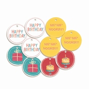 Piatek Paper Tag Happy Birthday