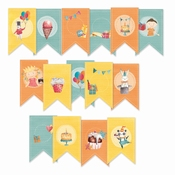 Piatek Paper Die-Cut Garland Happy Birthday
