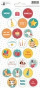 P13 | Party Sticker 2 Happy Birthday - sheets 10,5 x 23 cm