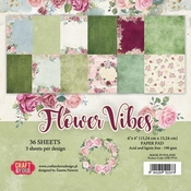 Craft & You | Paperstack 6 x 6 inch - Flower Vibes
