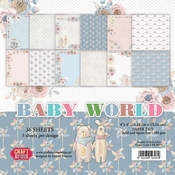 Craft & You | Paperstack 6 x 6 inch - Baby World