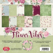 Craft & You | Paperpad 12 x 12 inch - Flower Vibes