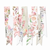 P13| Decorative Tags Love in Bloom | 9 stuks | Banner | ± 7c