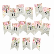Piatek Paper Die-Cut Garland Love in Bloom