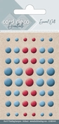 Card Deco Essentials-Enamel Dots Blue and Red