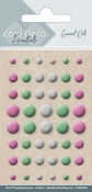 Card Deco Essentials-Enamel Dots Pink Green and White