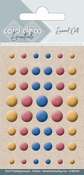 Card Deco Essentials-Enamel Dots Yellow Red and Blue