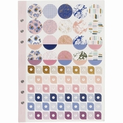 Art Journal | Stickerboek A5 150 x 210 mm | Paars Lavendel