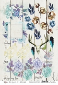 13@rts | Blue Magnolia Elements A4 | 13arts
