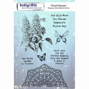 IndigoBlu stempel Floral Fantasy Mounted A5 Rubber Stamp