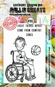 AALL & Create stempel nr 185 - Basket Ball Kid