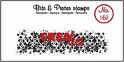 Crealies stempel Bits & Pieces no. 167 Wolky squares Langwe