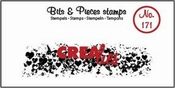 Crealies stempel Bits & Pieces no. 173 Grunge ZigZag Langwer
