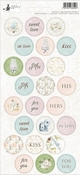 P13 | Stickers Truly Yours nummer 5 - sheets 10,5 x 23 cm