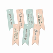 P13| Decorative Tags  Truly Yours | 7 stuks | Banner | ± 7cm