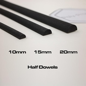 Eva foam HALF Dowel - 15mm
