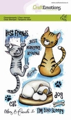 CraftEmotions stempel A6 | Carla Creaties | Odey & Friends 2