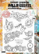 AALL & Create Stamp Set #195 - Flowers & Gears