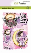 CraftEmotions stempel A6 | Carla Creaties | Angel & Bear 2