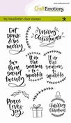 CraftEmotions clearstamps A6 | Handletter | Christmas 2