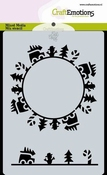 CraftEmotions Mask Stencil Christmas | Circle cars