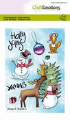 CraftEmotions stempel A6 | Carla Creaties | Snowy & Friends