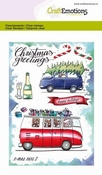 CraftEmotions clearstamps A6 | X-mass cars 2