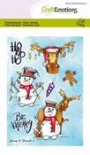 CraftEmotions clearstamps A6 | Snowy & Friends 1