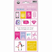Stickers Girl Gang nummer 2 - sheets 10,5 x 23 cm