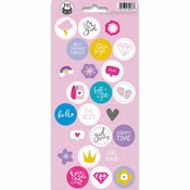 Stickers Girl Gang nummer 3 - sheets 10,5 x 23 cm