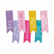 P13| Decorative Tags Girl Gang | 9 stuks | Banner | ± 7cm