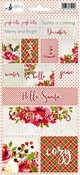Stickers Rosy Cosy Xmas nummer 2 - sheets 10,5 x 23 cm