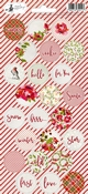 Stickers Rosy Cosy Xmas nummer 3 - sheets 10,5 x 23 cm
