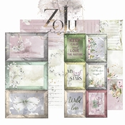 ZoJu Forest Dreams | Journaling Cards |  set bevat 4 vellen