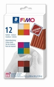 Fimo klei pakket Leather Effect 12 kleuren