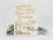 Chipboard | softboard Tekst Merry Christmas