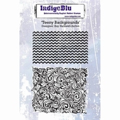IndigoBlu stempel Teeny Backgrounds - 2 stempels