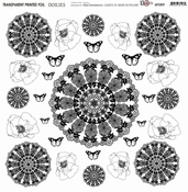 13@rts | Transparante sheet Doilies| 13 arts