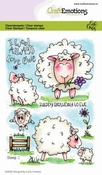 CraftEmotions stempel A6 | Carla Creaties | Sheep 1