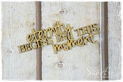SnipArt | MDF tekst Eternity begins in this moment