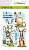 CraftEmotions stempel A6 | Carla Creaties | Bunny 1